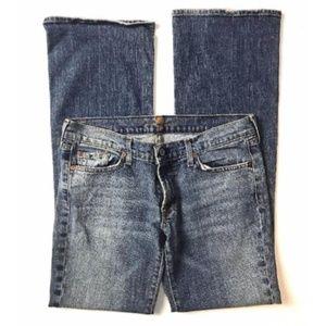 7 for all mankind Blue Distressed Denim Pants Sz30